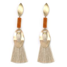 Belliamore Bohemian Long Duster Natural Tassel and Gold tone Earrings are incredible statement earrings and the hottest trend for the season..  https://www.bettinascollection.com/products/bellisima