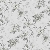 Graham & Brown Rosamund Wallpaper - Grey