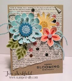 Stamped Silly: Flower Patch  Flower Fair dies from Stampin' Up!