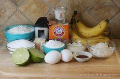 Coconut Banana Bread with Lime Glaze