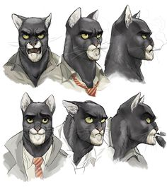 Blacksad faces - J. Guarnido