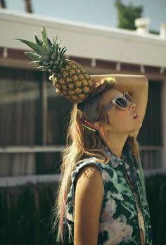 Pineapple – editorial, food, model, fashion
