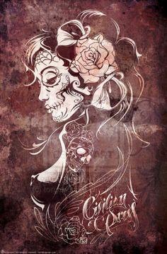 Dia de los muertos arte