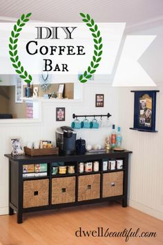 DIY Tea and Coffee Bar | Dwell Beautiful | Perfect for salon waiting area