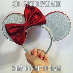 """PLEASE read guidelines below.  1. All sale ears are labeled with set price plus shipping and handling. Shipping within the US will be $5 international shipping with be $15.  2. All sales final- no refunds or exchanges.  3. Promo codes cannot be combine with sale price.  4. To claim an item comment on that items IG post with """"ME"""". There are two pairs available of ears pair so the first two comments will """"win"""" the item. If someone has already commented to claim you can still comment in case…"""