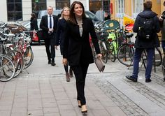 """16 March 2017 - Princess Mary attends the premiere of """"Jaha's Promise"""" documentary film - suit by Zara, shoes by LK Bennett, clutch by Quidam"""