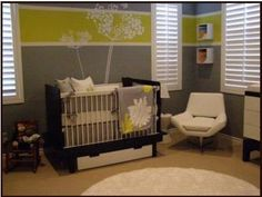 modern baby nursery