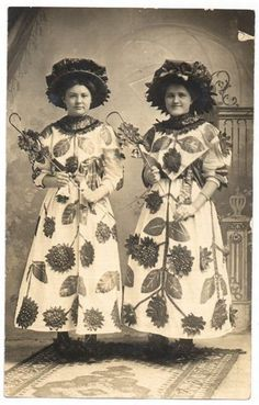 Hope and Laura thought it would be great fun to wear matching outfits to the annual Tribute to Flora Dance ....