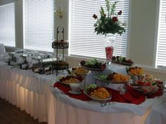 Reception Food Buffet Table   Google Search