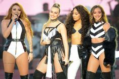 One Love Manchester: Little Mix faces music over 'half naked' outfits at Ariana Grande-led charity concert Little Mix Outfits, Little Mix Girls, Jesy Nelson, Perrie Edwards, Spice Girls, Ariana Grande, Looks Adidas, Mixed People, Concert Dresses