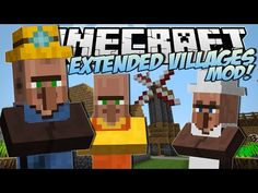Minecraft | EXTENDED VILLAGES MOD! (Miners, Bakers, Village Finder & More!) | Mod Showcase - YouTube