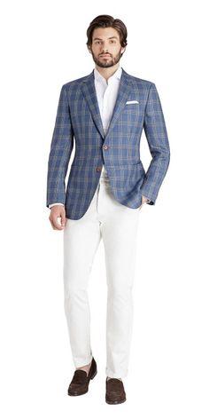 French Blue Check Custom Blazer