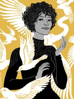 Whitney Houston, for the Grantland Quarterly! (to accompany this article) More… Whitney Houston, Art And Illustration, Portrait Illustration, Kunst Inspo, Art Inspo, Character Inspiration, Character Art, Portrait Art, Portraits