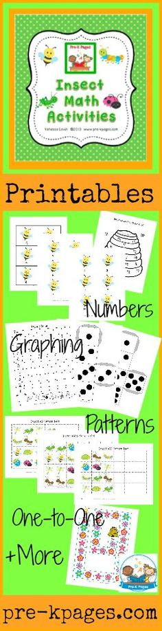 Bugs and Insects Theme Activities in Preschool   Pre-K Pages