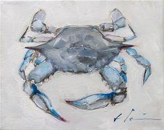 "Daily Paintworks - ""Blue Crab"" - Original Fine Art for Sale - © Clair Hartmann Coastal Art, Blue Crabs Art, Fish Art, Sea Creatures Art, Animal Art, Crab Art, Art, Louisiana Art, Crab Painting"