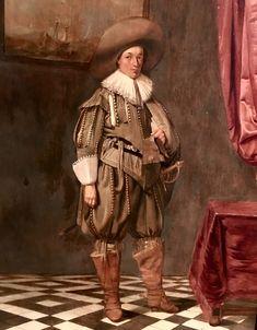 Portrait of a Young Man by Pieter Codde, Dutch, c. 17th Century Fashion, Vintage Artwork, Young Man, Dutch, Castle, Paris, Portrait, Painting, Inspiration