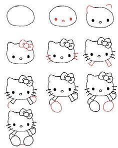 Gewusst wie: Zeichnen von Hello Kitty 3595