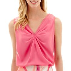 jcp | Worthington® Knot Front Blouse