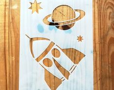 Space Planet Rocket Stars STENCIL for kids room interior decor / reusable stencil Stencils For Kids, Kids Wall Murals, Star Stencil, Space Planets, Art Drawings For Kids, Stencil Designs, Diy Canvas, Diy Painting, As You Like