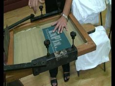 How to silk screen print in 4 minutes!
