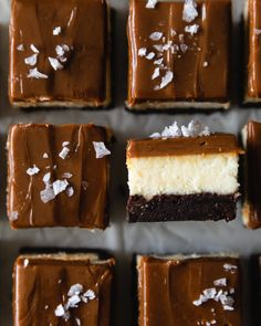Chewy Brownies, No Bake Brownies, Pan Dulce, Köstliche Desserts, Delicious Desserts, Health Desserts, Yummy Food, Brownie Recipes, Cheesecake Recipes