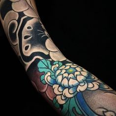 Japanese tattoo sleeve by @deneka