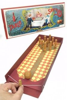 Table Skittles Victorian English Bowling Set | Family Games | Retro Range UK Games | 5025228000101