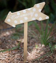 polka dots wedding sign