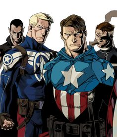 Captain America, Bucky, Nick Fury & Namor by Kris Anka Marvel Comics Superheroes, Superhero Characters, Comic Book Characters, Marvel Heroes, Marvel Comic Universe, Comics Universe, Captain America And Bucky, Capt America, Superman