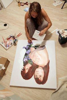 Jen Mann/ artist at work
