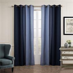 遮光カーテン 北欧カーテン 2色組み 無地柄 麻&綿 3級遮光カーテン(1枚)