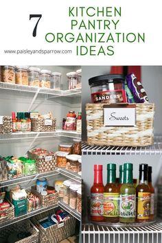 Small Kitchen Pantry, Kitchen Organization Pantry, Kitchen Pantry Cabinets, Diy Cabinets, Organization Hacks, Organizing Ideas, Cupboards, Interior Design Inspiration, Home Decor Inspiration