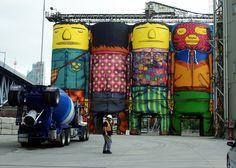 Galería - Intervención Urbana: Muralistas convierten 6 enormes silos en obras de arte públicas - 5