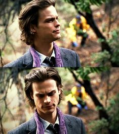 "Matthew Gray Gubler as Dr. Spencer Reid from ""Criminal Minds."" I WANT HIM! He looks like the opposite Loki with the hair and the scarf                                                                                                                                                      More"