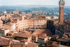 Siena, Italy.  Medieval Tuscany at its best.  I remember taking an afternoon nap on my honeymoon in the Piazza del Campo.