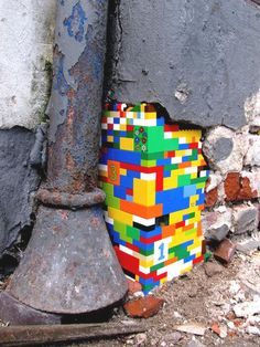 There's a colorful world beneath the cement - Danish street art by Jan Vormann