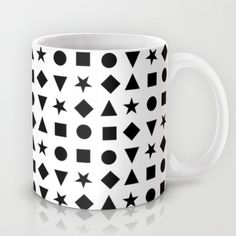 Shapes in bold and modern black and white minimal design perfect gifts for trendy people Mug by CharlotteWinter - $15.00