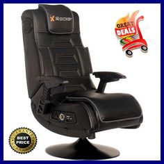 Rocker Gaming Chair Wireless Audio X Video Pro Series Gamer Elevated Tilt NEW #XRocker