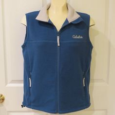 BLACK FRIDAY SALE GOING ON NOW!  & WITH MAKE AN OFFER OPTION!!  Cabela's Fleece Vest Blue/Light Grey Size Med.  #Cabelas