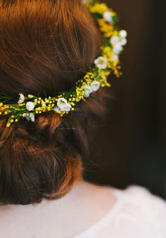 Sweet yellow whit flower crown KATHRYN   SAM