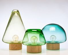 Skog lamp by Caroline Olsson I'd love to have a small forrest of these.