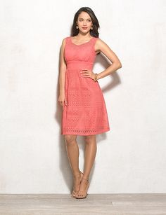 Coral Lace Dress | DRESSBAR