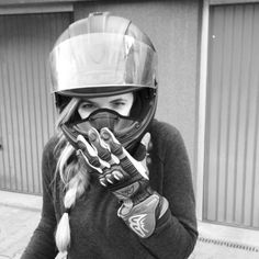 Real Motorcycle Women - whitewithout