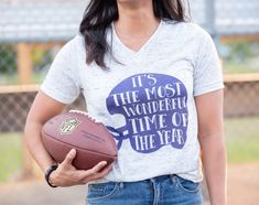 Football Mom Shirt  Football Shirts  Game Day Shirt  It s The Most  Wonderful Time of the Year  High School  College b96d0339e