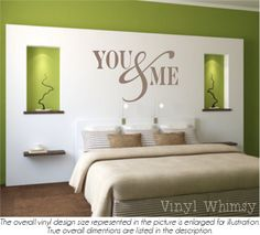 Vinyl Wall Art  Quote  You And Me  Vinyl Lettering  Decal