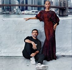 """Beyoncé and Givenchy's Riccardo Tisci for Vogue's September issue editorial """"Forces of Fashion,"""" shot by Anton Corbijn. Styled by Riccardo Tisci in Givenchy. Fashion Editor, Fashion Shoot, Editorial Fashion, Fashion News, Fashion Models, High Fashion, Classic Fashion, Vogue Fashion, Fashion Designers"""