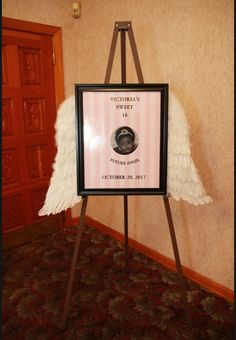 Victoria's Secret themed Sweet 16 easel photo for entryway to the venue Sweet 16 Parties, Victoria, Easel, Frame, Entryway, Decor, 16th Birthday Parties, Flip Charts, Picture Frame