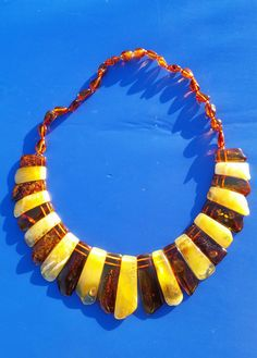 Beautiful Genuine Baltic Amber Cloepatra Necklace for Woman Buterscotch/Cognac
