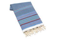 Fouta Towel, Multi Stripes Light Blue on One Kings Lane today