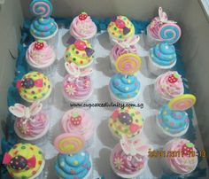 Candy theme cupcakes
